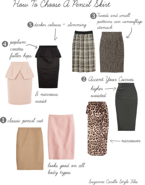 How To Choose A Pencil Skirt for your body type