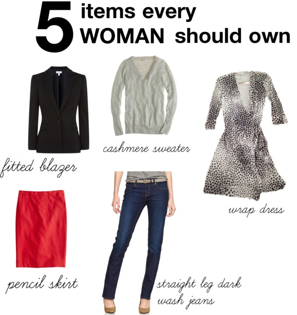5 items every woman should own