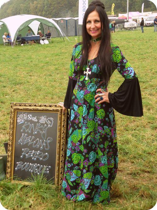 Vintage vixen bold print vintage maxi dress