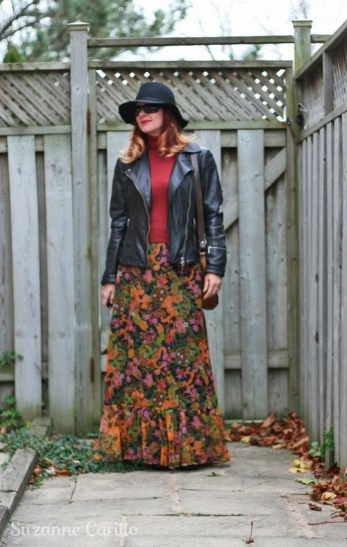 how to style a vintage maxi skirt suzanne carillo