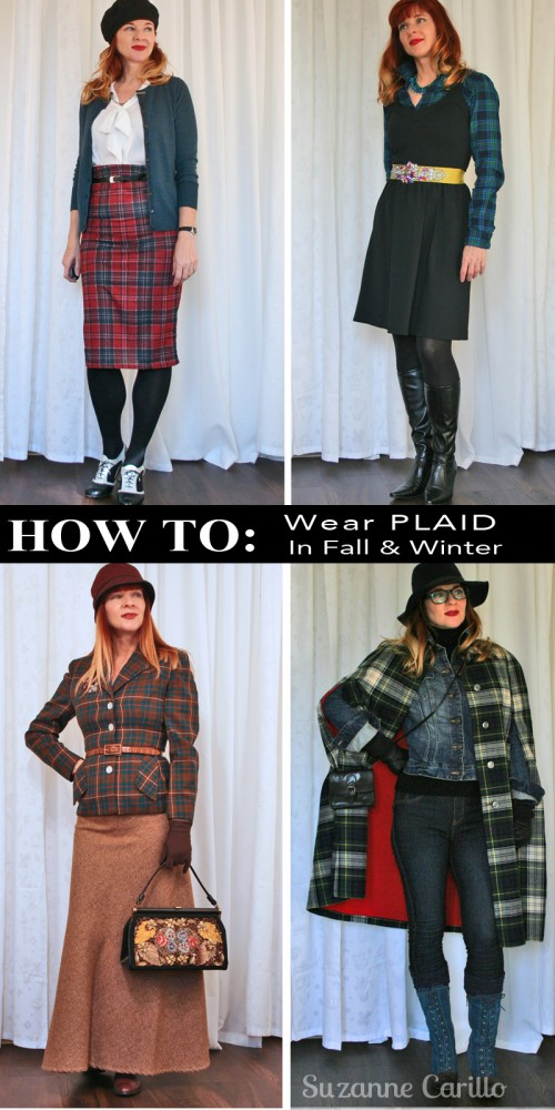 How to style plaid for fall and winter.