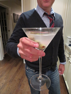 My husband mixes the best martinis