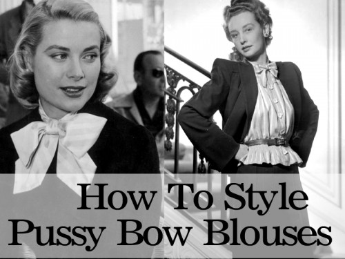 How to style a pussy bow blouse