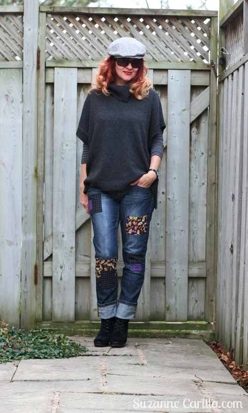 DIY patchwork jeans by Suzanne Carillo