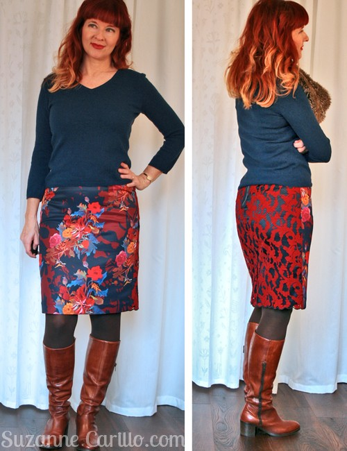 Floral and lace Anthropologie skirt