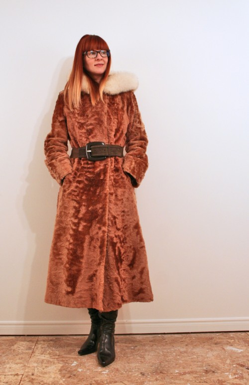 Long vintage winter coat