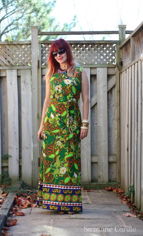 Pattern camouflage maxi dress