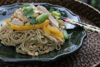 Simple asian chicken noodle salad