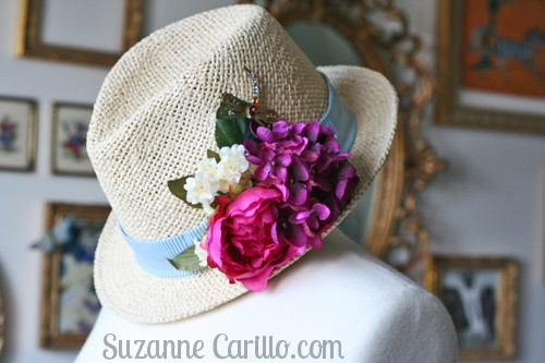DIY summer floral hat suzanne carillo