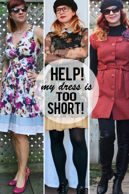 help my dress is too short
