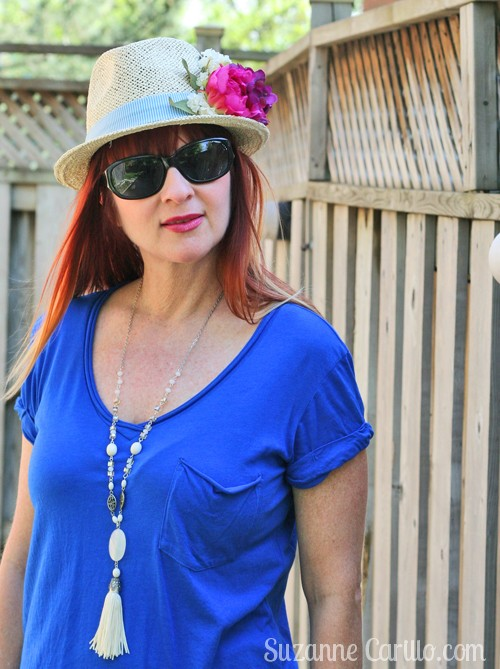 how to wear a floral hat over 40