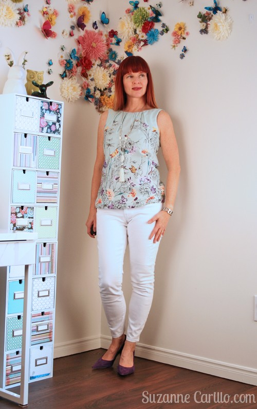 how to wear white jeans for summer over 40