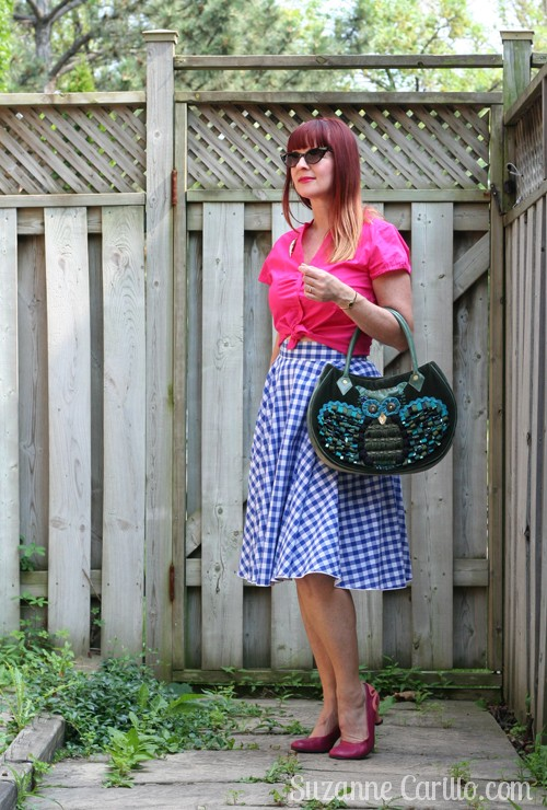 how to style gingham vintage inspired