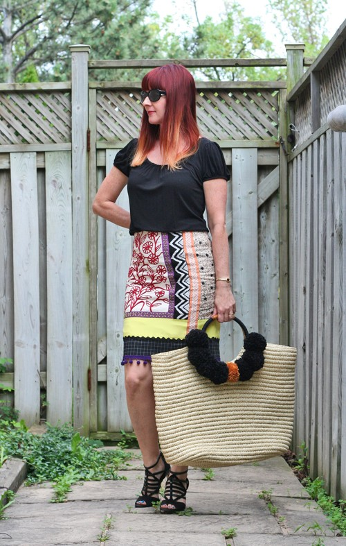 anthropologie yellow tribal skirt suzanne carillo
