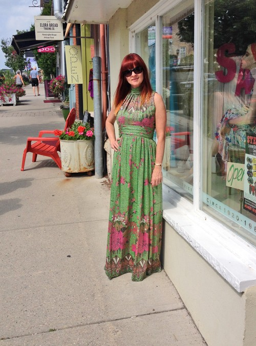 1970s vintage gown suzanne carillo how to wear vintage over 40