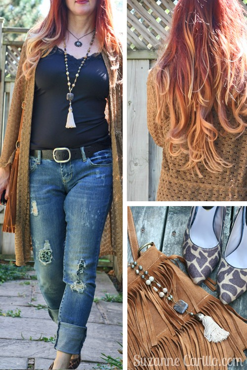 how to wear boho style over 40 gold and black suzanne carillo