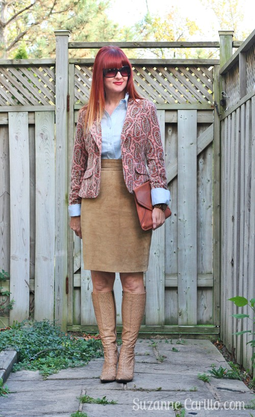 how to wear suede for fall suzanne carillo