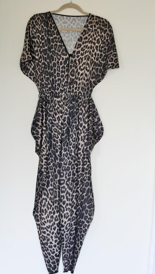 leopard jumpsuit 1980s