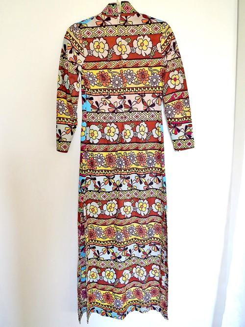 vintage maxi dress colour washed out