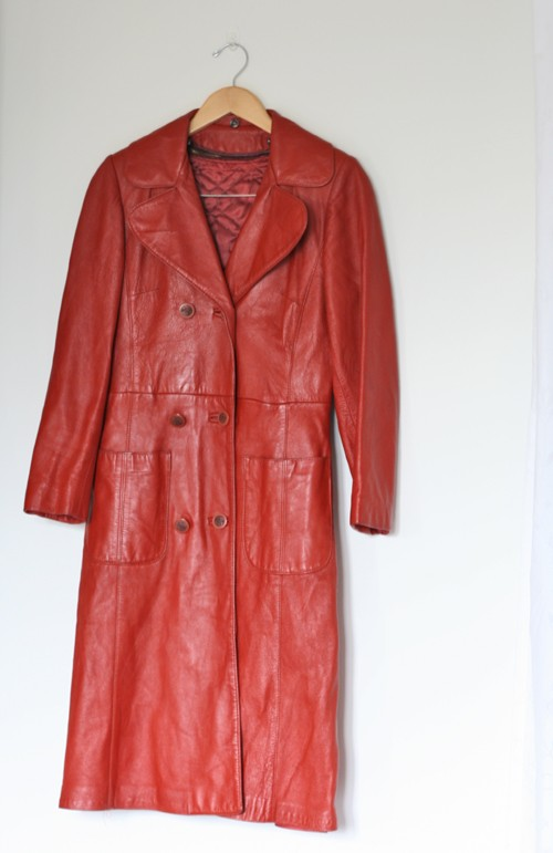 vintage orange leather jacket