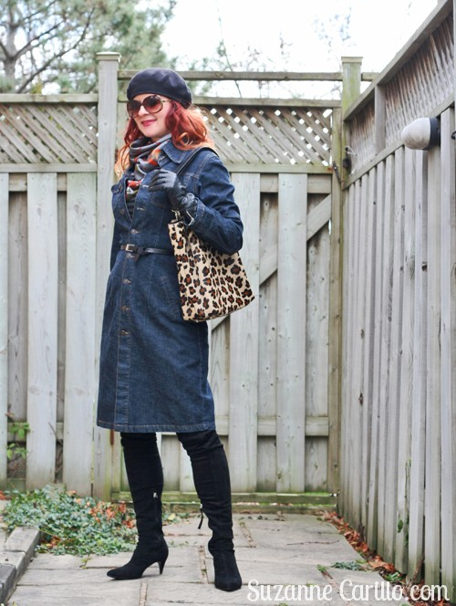 how to wear denim dress over 40 suzanne carillo