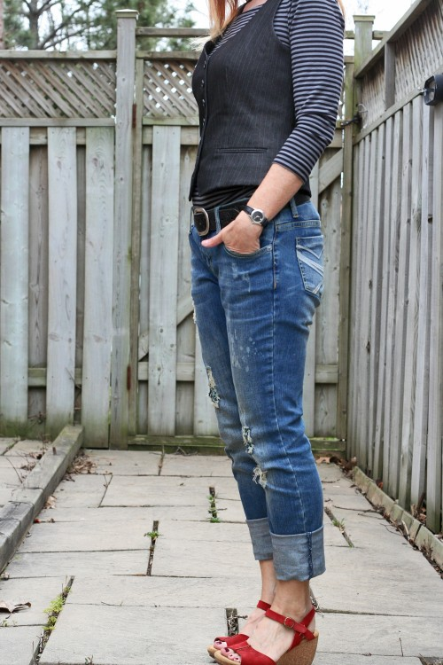 distressed jeans mens vest summer style