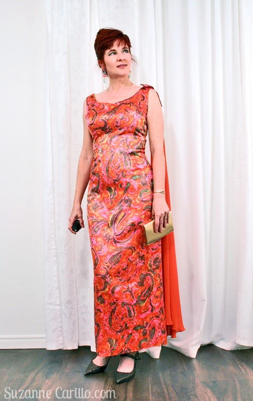 timeless vintage at any age vintage 1960s gown orange and pink suzanne carillo