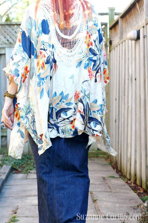 how to wear a kimono over 40 suzanne carillo style