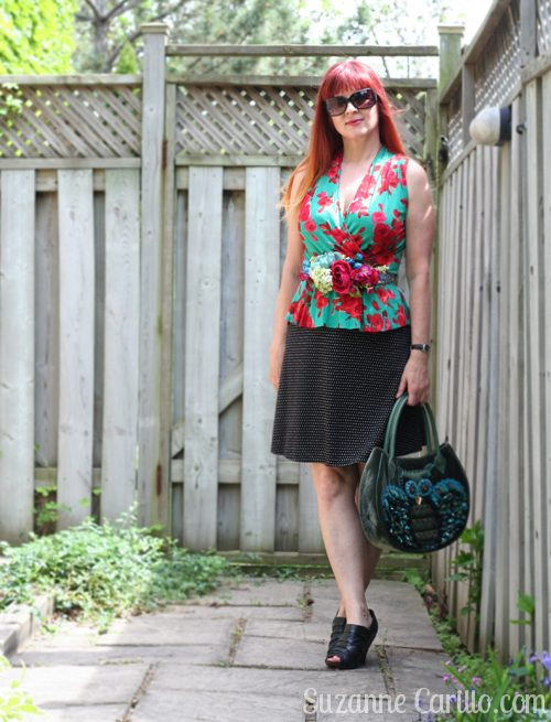 floral belt DIY suzanne carillo style for women over 40