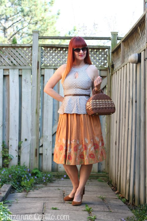 how to wear a vintage skirt styled contemporary women over 40 style suzanne carillo