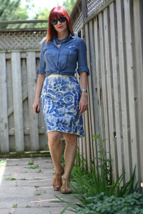 blue embroidered skirt with beige clarks sandals top ten comfortable stylish shoes for mature feet