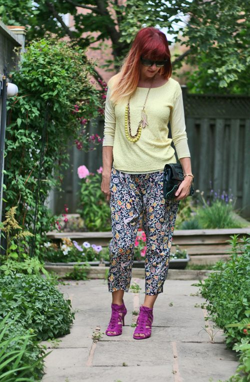 no fail tips how to style patterned silk harem pants over 50 suzanne carillo