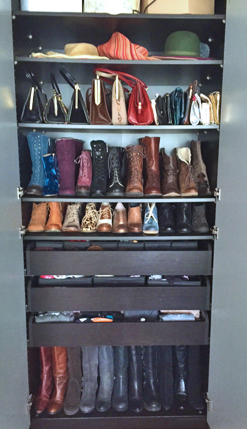 shoe storage solutions for shoe hoarders suzanne carillo. Black Bedroom Furniture Sets. Home Design Ideas