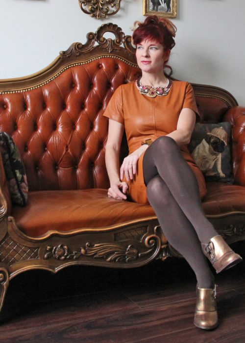 leather dress suzanne carillo