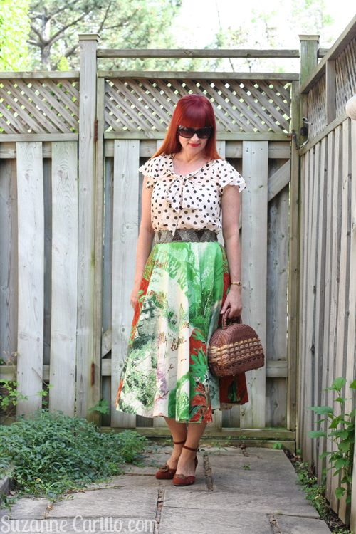 style a midi skirt when you are petite suzanne carillo style for women over 40