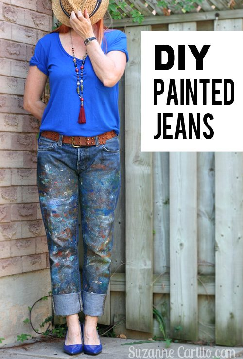 diy painted jeans