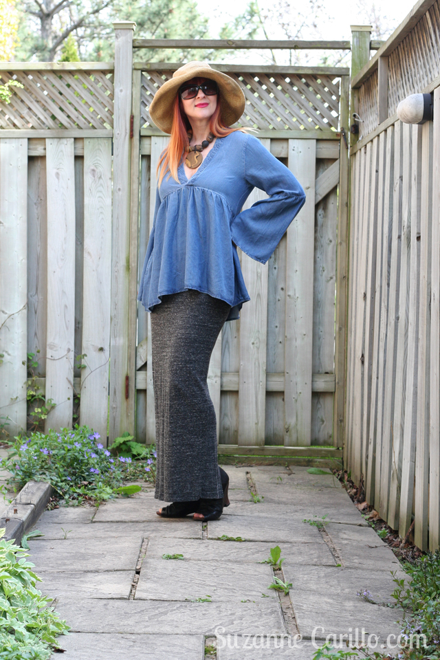 how to wear bell sleeves over 50 suzanne carillo style