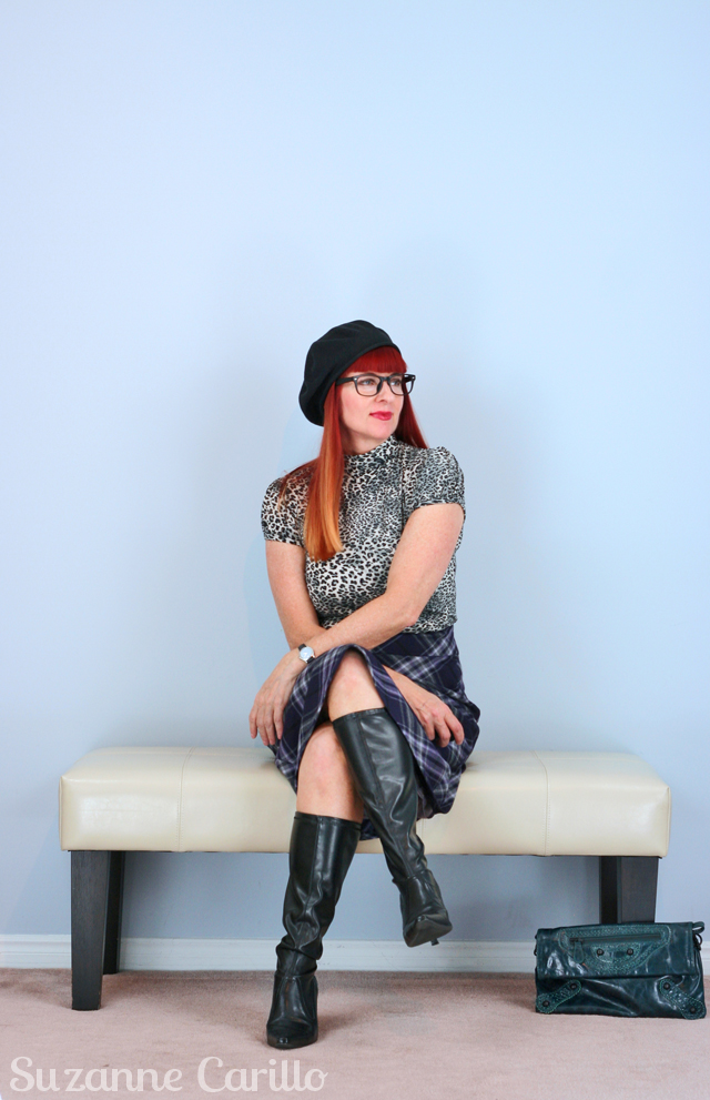 Plaid for fall suzanne carillo style for women over 40