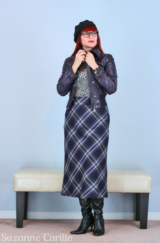 plaid style for fall for women over 40 suzanne carillo