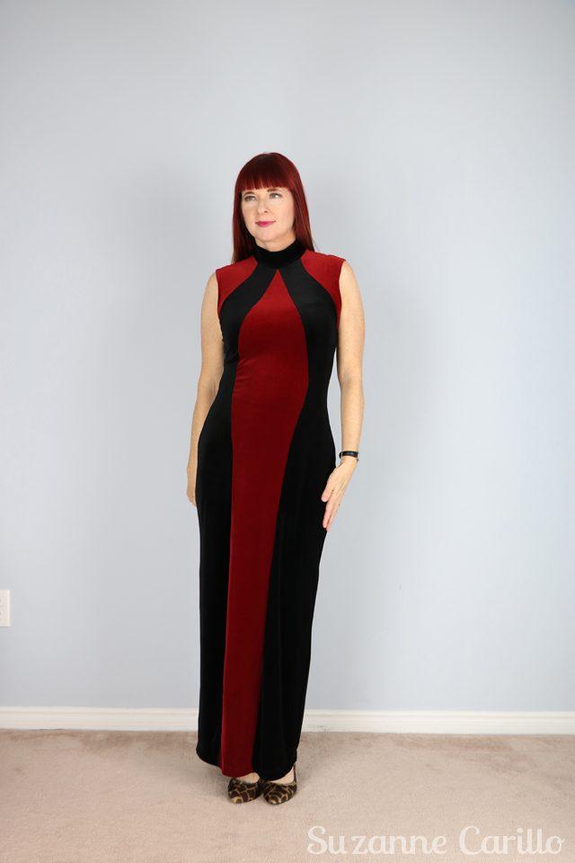 vintage red velvet maxi dress for sale vintagebysuzanne on etsy