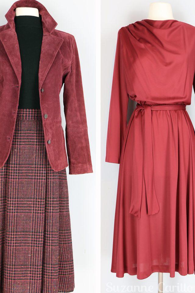 rust red vintage dress for sale vintagebysuzanne vintage style for women over 40