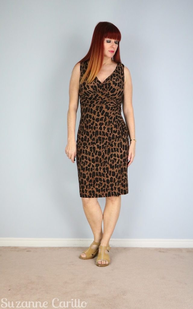 leopard body con dress what to wear on vacation in the evening suzanne carillo