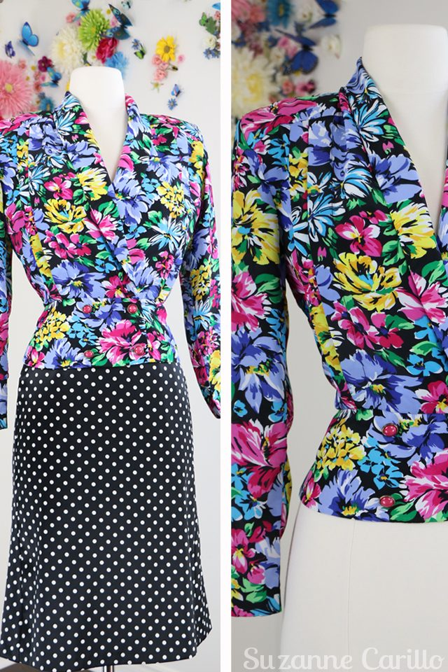floral double breasted vintage blazer for sale