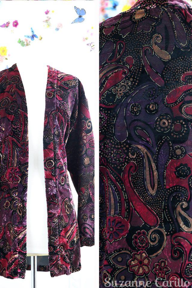 vintage velvet kimono for sale