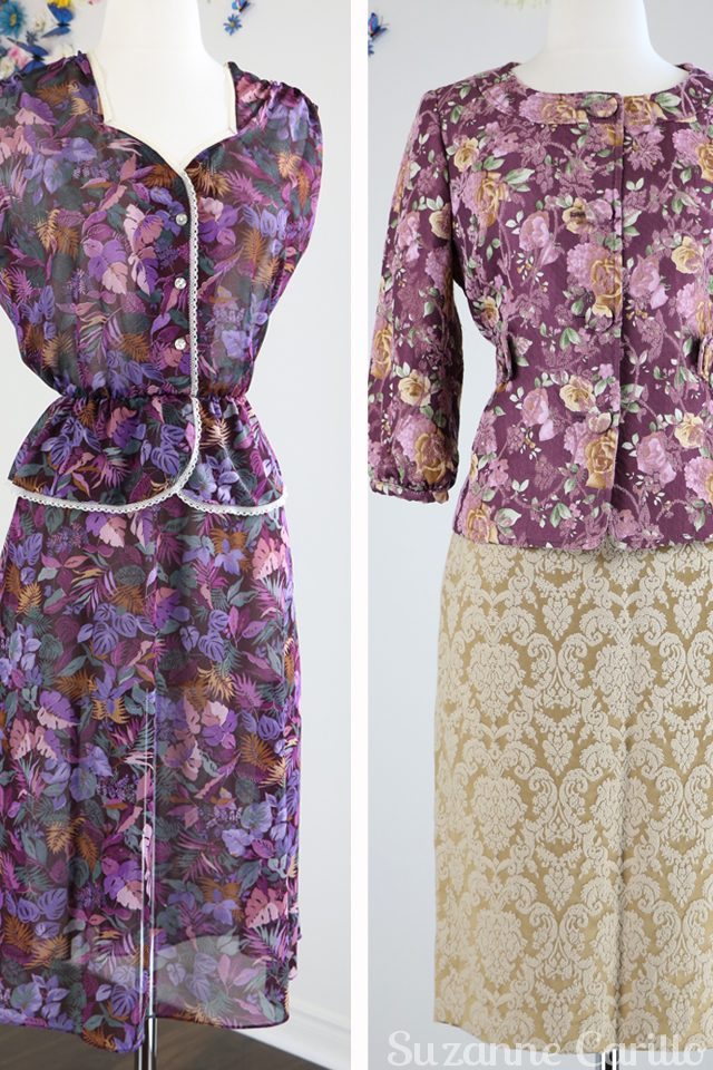vintage floral dress for sale vintage floral jacket for sale damask skirt for sale buy now