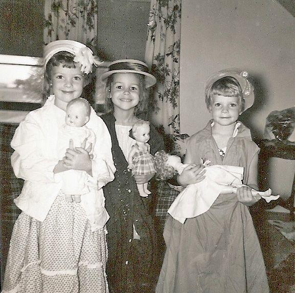 vintage photo kids playing dress up