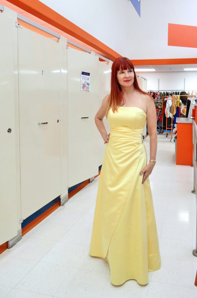 Suzanne Carillo yellow gown