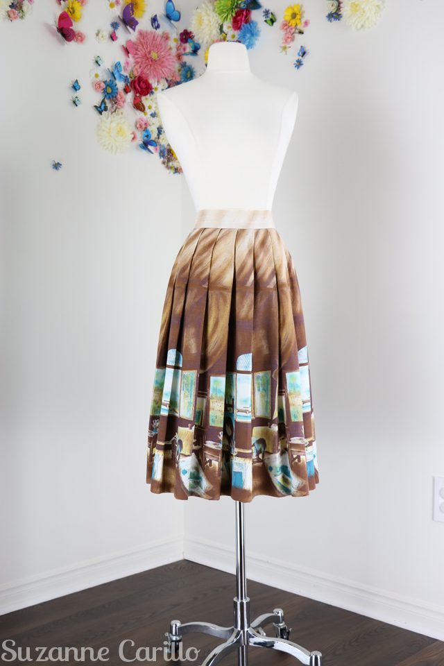 buy vintage 1950s novelty print skirt online