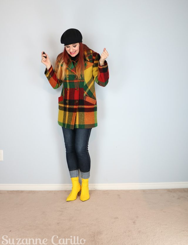 how to wear a bold plaid jacket for fall suzanne carillo