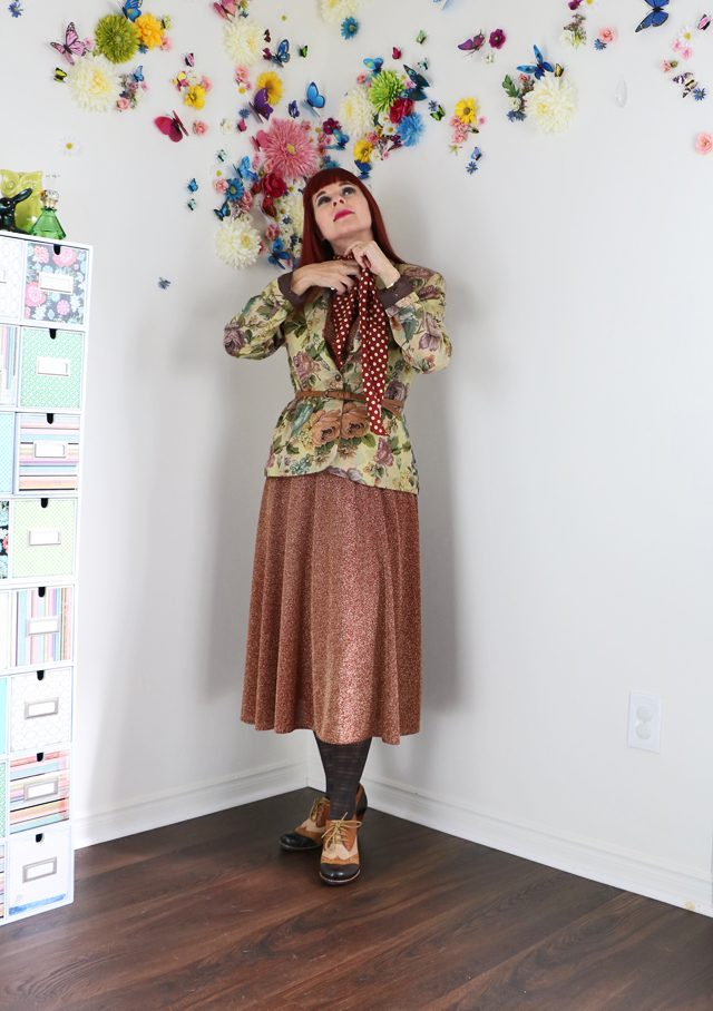 Creating a memorable impression with layers. Creating layers of interest with vintage clothing